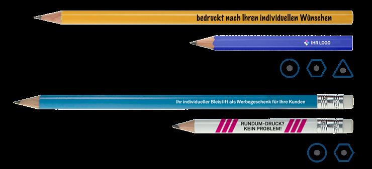 farbige Bleistifte mit Logo