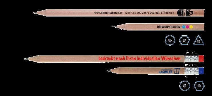Bleistifte mit Werbedruck