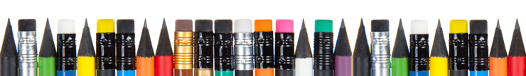 bedruckte schwarze Bleistifte